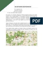 Informe de Estudios Geotecnicos
