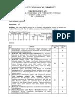 hydraulics and pneumatics  syllabus