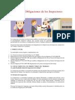 Derechos y Obligaciones de Los Inspectores - SUNAFIL