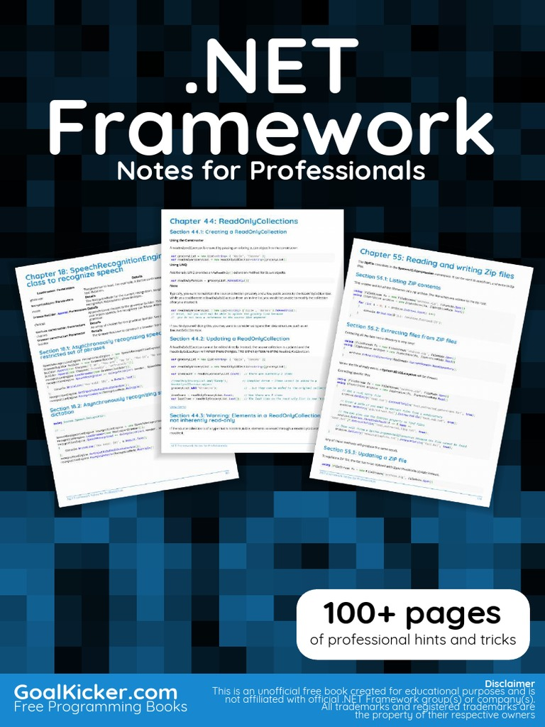 DotNETFrameworkNotesForProfessionals pdf | Method (Computer