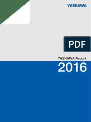 YASKAWA - Annual Report 2016 | Automation | Engines