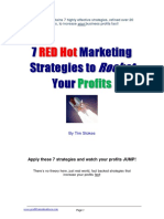 7 Red Hot Marketing Strategies (FREE Book with 7 videos)