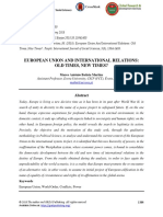 European Union and International Relations- Old Times- New Times