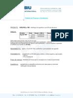 Tabela Preços - BIU 2011 - Aquasil 100