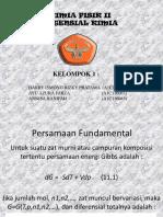 Persamaan Fundamental potensial kimia