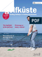 Magazin Golfküste 2018  englisch