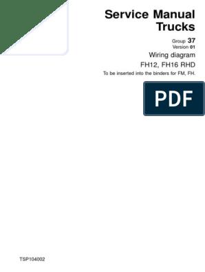 fh v1.pdf | Electrical Wiring | Relay | Volvo Fh Version 1 Wiring Diagram |  | Scribd