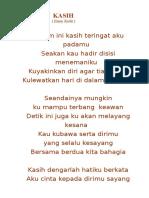 lirik Kasih  by  Ermy