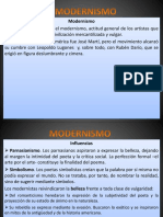 El Modernismo y Rubén Dario