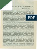 De Mayer. Rosita - La Filosofia de La Historia de R.G. Collingwood