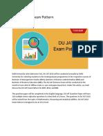 DU JAT Exam Pattern Details (http://www.clearugentrance.com)