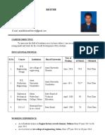 r.ananda Kumar Resume