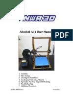 Afinibot a31 User Manual v11