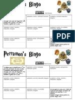 Proyecto Hogwarts. Bingo Sustantivos