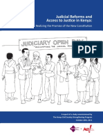 Judicial Reforms and Access to Justice in Kenya