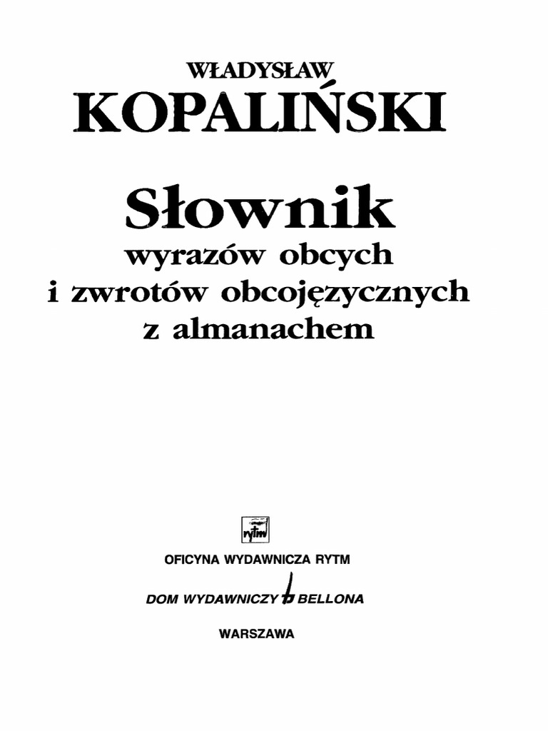 2284d31f29af9 Wladyslaw Kopalinski - Slownik Wyrazow Obcych
