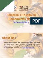 Children's Hospital in Ramamurthy Nagar
