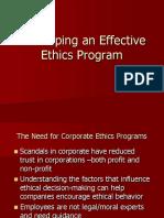 Developing an Effective Ethics Program