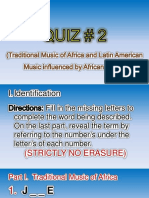 QUIZ # 2 in Music- 2nd Qtr