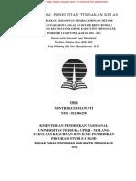 Proposal Penelitian Tindakan Kelas Meningkatkan Kemampuan Membaca Dengan Metode Bermaian Pada Siswa Kelas A