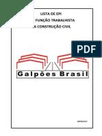 Capa - Lista de Epi Por Função Na Cosntrução Civil