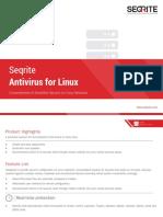 Seqrite Antivirus for Linux Datasheet