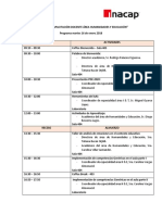 Programa Jornada Docente 2018