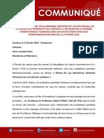 Déclaration de Hadja Diaby Sylla Mariama a l'occasion de la célébration de la Journée Internationale Tolérance Zéro aux Mutilations Génitales Feminines-excision