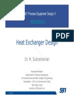 DesignII Lecture 01b HeatExchangerDesign