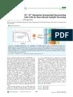 Upconvereter Perovskite Solar Cell With Nanoplates
