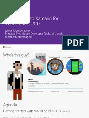 Introduction to Xamarin for Visual Studio 2017 | Xamarin