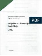 Bilješke Uz Financijski Izvještaj