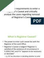 Registrar s Caveat