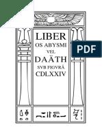 Liber Os Abysmi vel Daäth sub figurâ CDLXXIV by Aleister Crowley