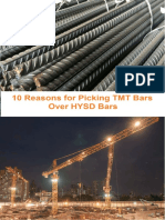 10 Reasons for Picking TMT Bars Over HYSD Bars