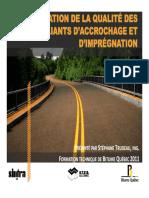 3 Evaluation de La Qualite Des Lians Accrochage Et Impregnation s. Trudeau