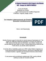 Tratados internacionais de direitos humanos e a EC 45/2004