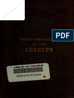 Secret Instruction on Jesuits