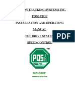 Posi-stop Top Drive Manual - Speed Control