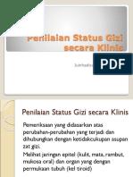 Penilaian Status Gizi Secara Klinis