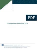 Cronograma I Trimest 2018