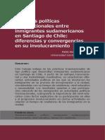 Practicas políticas transnacionales