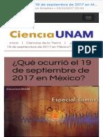 Qué Ocurrió El 19 de Septiembre de 2017 en México - Ciencia UNAM