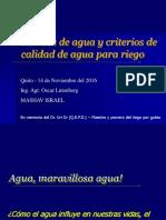 Fuentes de Agua y Criterios de Calidad 2012