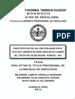Características Del Bullying Evaluadas Con El Auto Test Cisneros