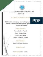 Matematicas Financieras Proyecto