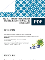 Political Risks of Global Strategy and Implementation In