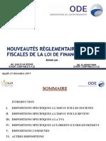 Présentation.dispositions Fiscales.plf.2018.Agadir