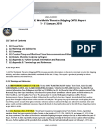 U. S. Navy Office of Naval Intelligence Worldwide Threat to Shipping (WTS) Report 1 - 31 January 2018