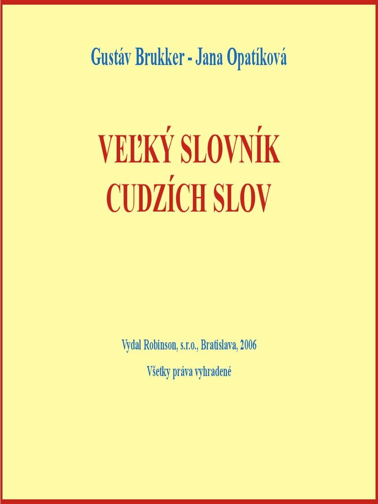 458e6f53ae Velky Slovnik Cudzich Slov